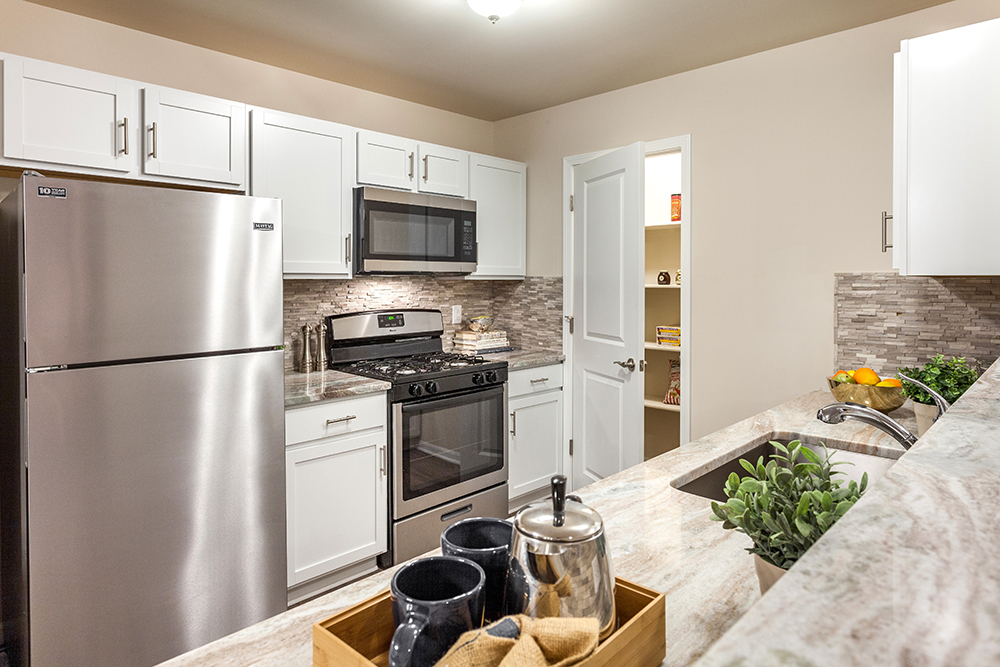 Luxury Apartments for Lease in Saline, MI - Cascade Pointe - CascadePointeAptSalineMIKitchenTileBackSplash_3663